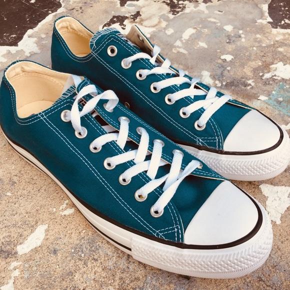 Converse Shoes   Teal Blue Canvas